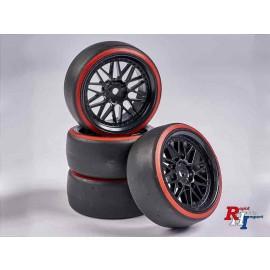 900157 1:10 Räderset Drift (4) schwarz-