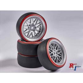 900156 1:10 Räderset Drift (4) silber-