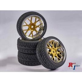 900163 1:10 Räderset Y-Design2 (4) gold-