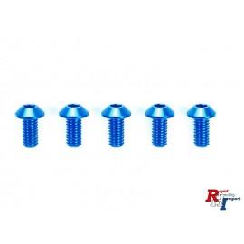 42327 TRF 3X6Mm Hex Head Screws Blue/5P