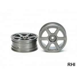 53453, 1/10 6-Spoke Wheels black 24mm